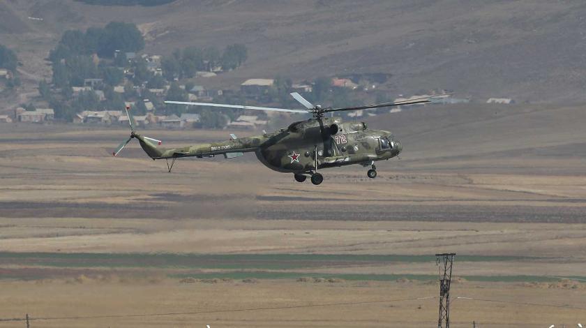 В Армении сбили российский вертолет Ми-24