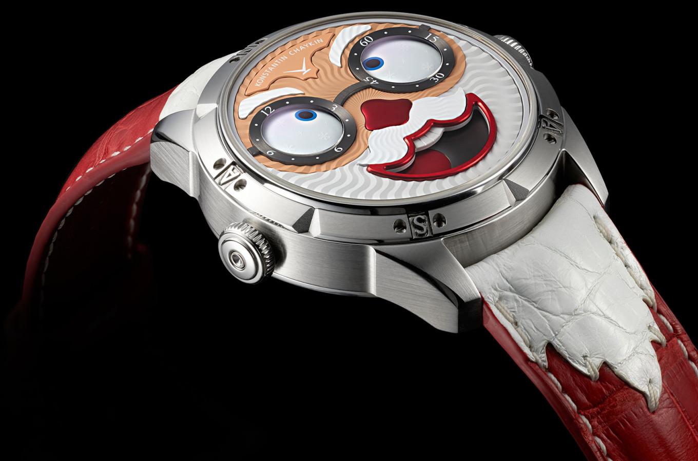 Российский мастер сделал первые в мире часы с Санта-Клаусом