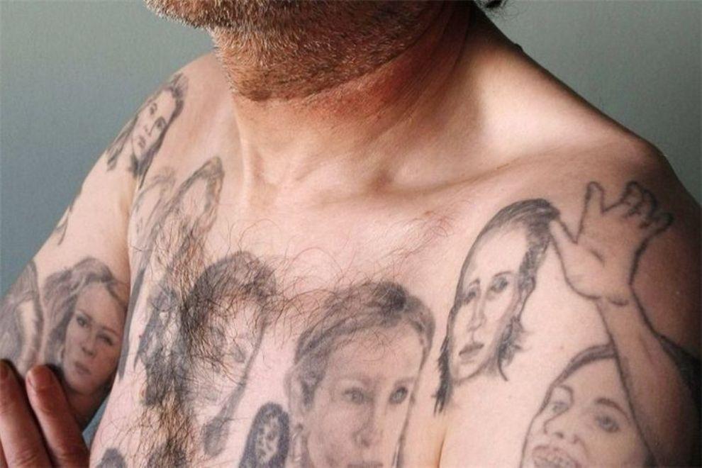 Чилийский мужчина, покрывший свое тело татуировками Джулии Робертс