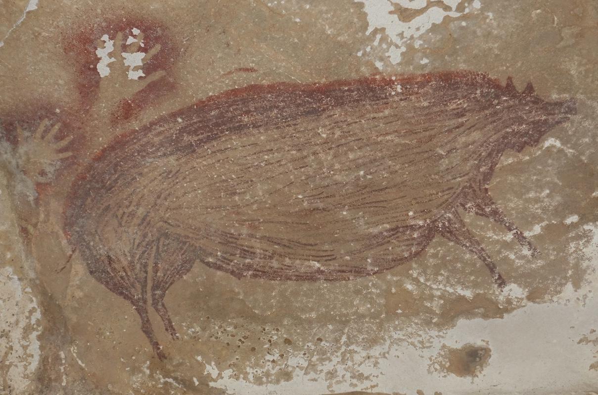 Археологи нашли старейшую в мире наскальную живопись животных