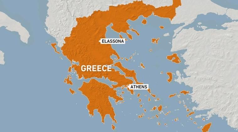 Сильное землетрясение сотрясает центральную грецию