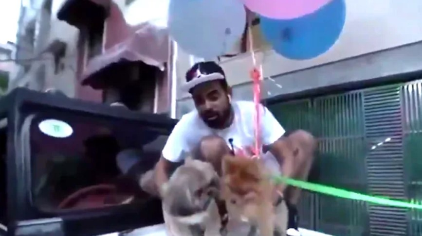 "Ютубер из Индии арестован за ""летающую"" собаку"