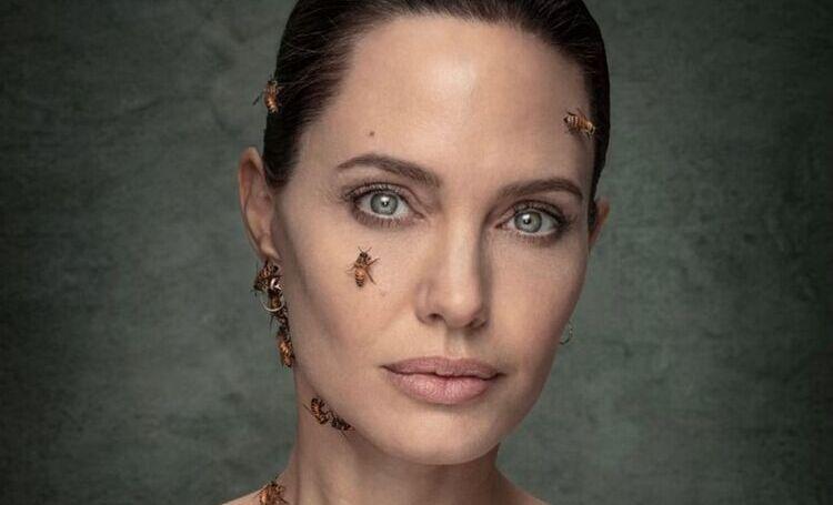 Анджелина Джоли снялась с пчёлами на теле