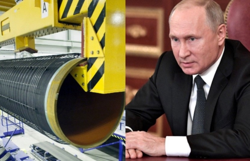Путин объявил о завершении укладки первой нитки «Северного потока - 2»