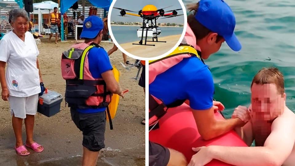 В Анапе дрон впервые спас тонущего человека